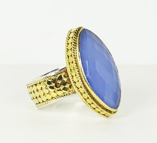 Anna Beck ANNA BECK Sterling 18K Gold Faceted Lavender Chalcedony Ring Sz 7 Image 1