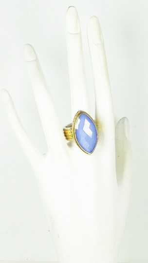 Anna Beck ANNA BECK Sterling 18K Gold Faceted Lavender Chalcedony Ring Sz 7 Image 4
