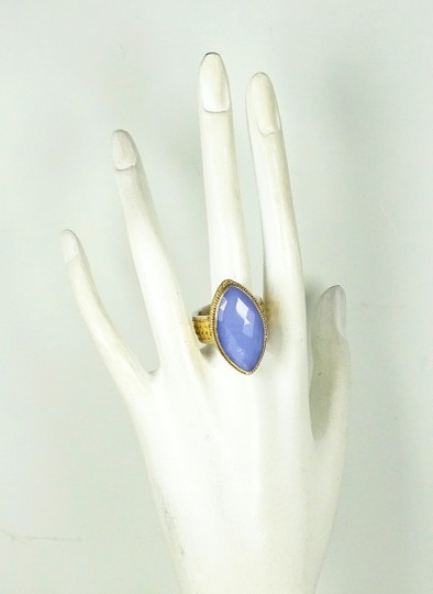 Anna Beck ANNA BECK Sterling 18K Gold Faceted Lavender Chalcedony Ring Sz 7 Image 6