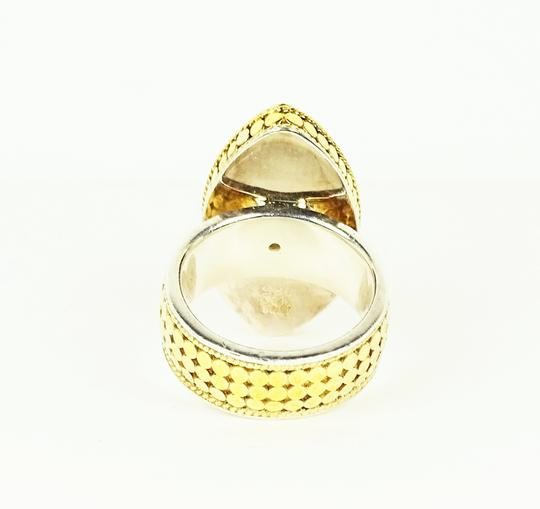 Anna Beck ANNA BECK Sterling 18K Gold Faceted Lavender Chalcedony Ring Sz 7 Image 7