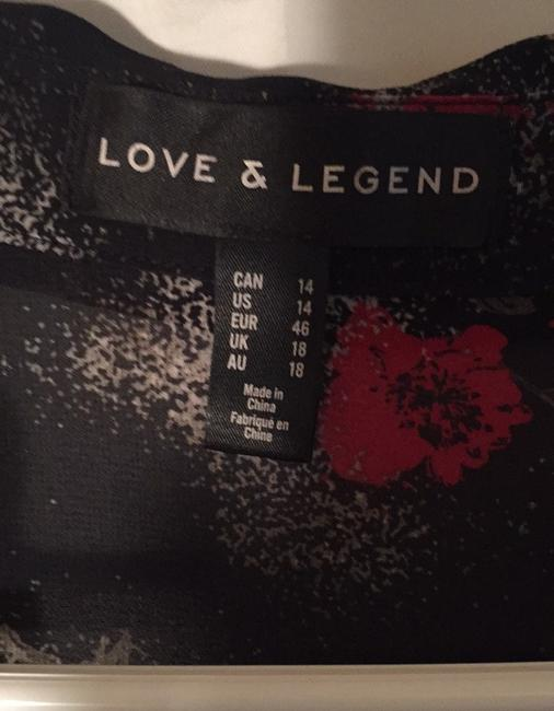 LOVE & LEGEND by Addition Elle Button Down Shirt Black, Red with a touch of light gray Image 2