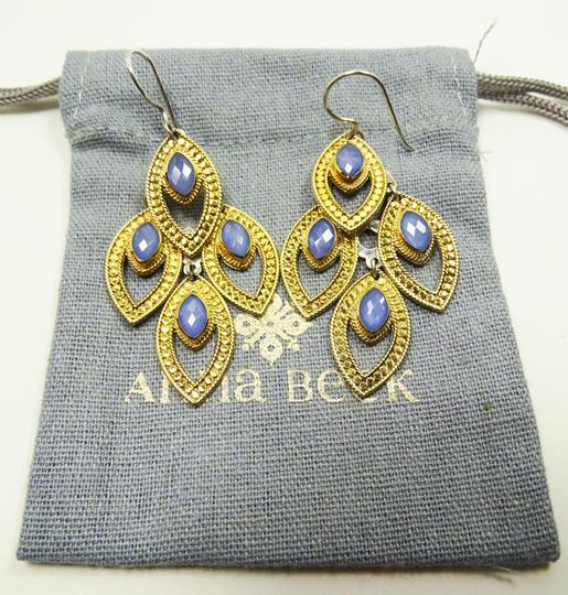 anna beck ANNA BECK Gili Sterling 18K Gold Faceted Chalcedony Chandelier Earring Image 11