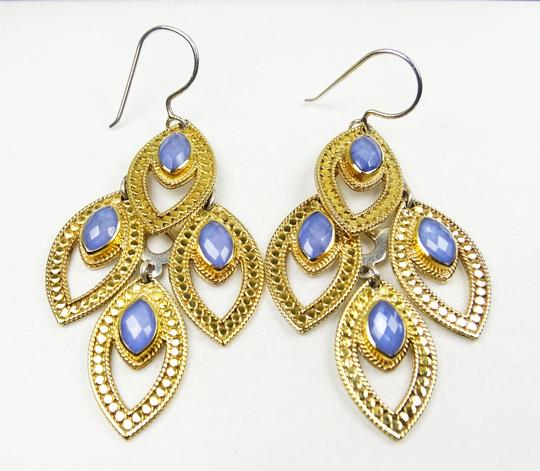 anna beck ANNA BECK Gili Sterling 18K Gold Faceted Chalcedony Chandelier Earring Image 7