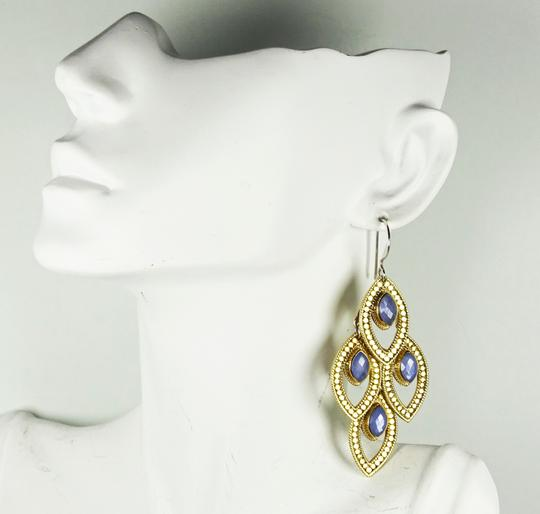 anna beck ANNA BECK Gili Sterling 18K Gold Faceted Chalcedony Chandelier Earring Image 9