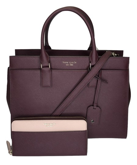Preload https://img-static.tradesy.com/item/26025588/kate-spade-new-york-cameron-large-satchel-and-matching-zip-wallet-cherry-woodwarm-vellum-leather-sho-0-0-540-540.jpg