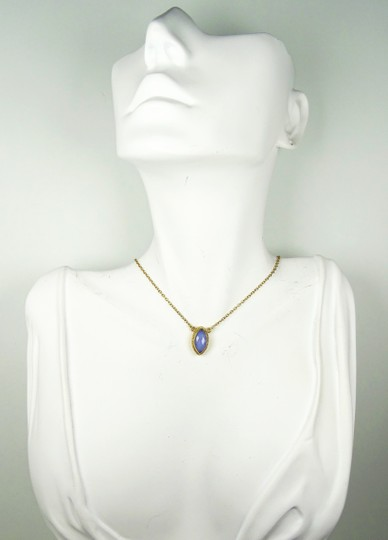 Anna Beck ANNA BECK Gili Sterling Silver Lavender Chalcedony Pendant Necklace Image 5