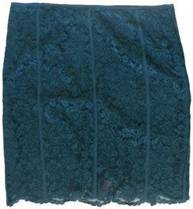 Tory Burch Pencil Lace Skirt Teal