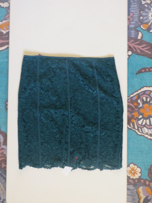 Tory Burch Pencil Lace Skirt Teal Image 1