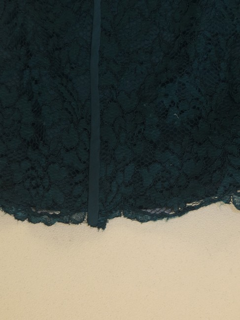 Tory Burch Pencil Lace Skirt Teal Image 3