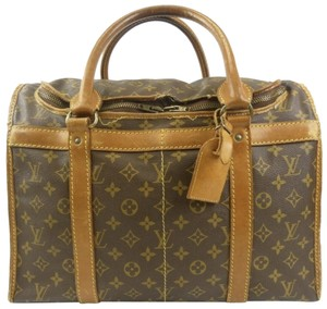 Louis Vuitton Sac Demi Lv Luggage Lv Monogrammed Carry On Brown Travel Bag