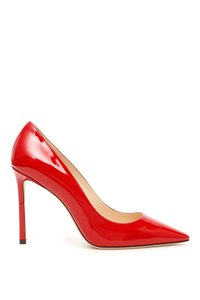Jimmy Choo Romy 100 Pat Red Pumps