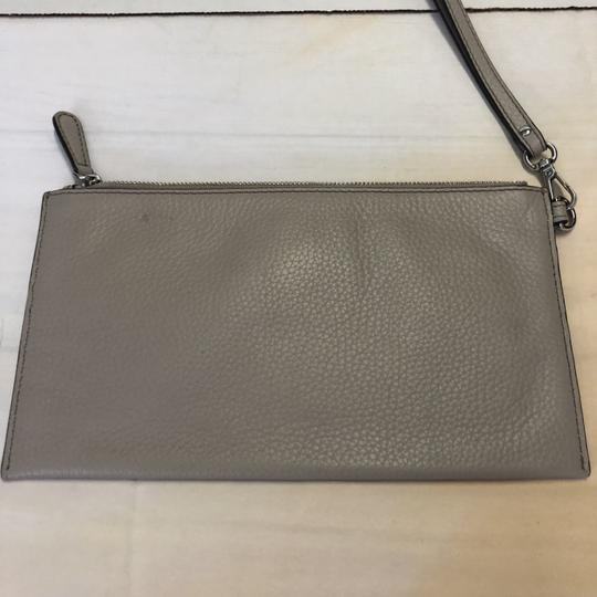 MICHAEL Michael Kors Wristlet Pebble Leather Taupe Clutch Image 1