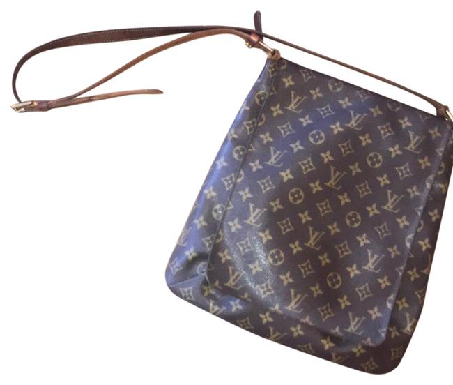 Louis Vuitton Musette Salsa Gm Brown and Tan Leather Cross Body Bag Louis Vuitton Musette Salsa Gm Brown and Tan Leather Cross Body Bag Image 1