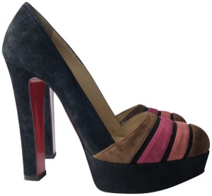 Christian Louboutin black pink Pumps