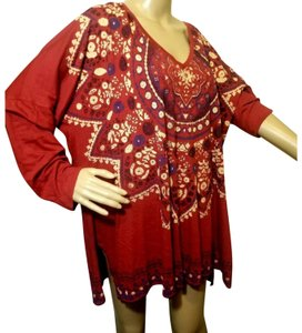Lucky Brand Top Maroon red