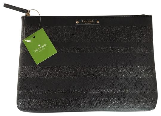 Preload https://img-static.tradesy.com/item/26025706/kate-spade-blacksilver-glitter-haven-lane-gia-pouch-cosmetic-bag-0-1-540-540.jpg