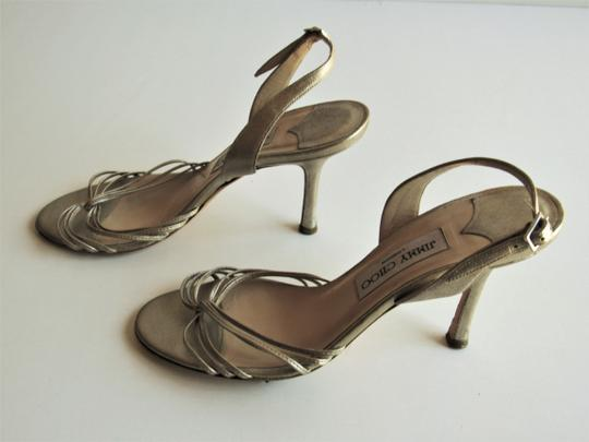 Jimmy Choo Heels Strappy Champagne Gold Sandals Image 4