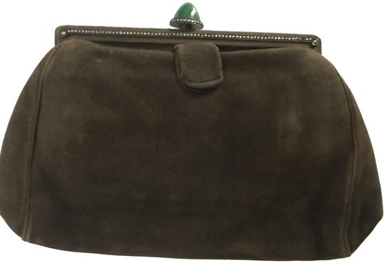 Preload https://img-static.tradesy.com/item/26025753/vintage-with-jade-closure-w-olivebrown-suede-leather-clutch-0-1-540-540.jpg