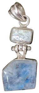 Artisan crafted Artisan Crafted Sterling Labradorite Baroque Pearl Pendant