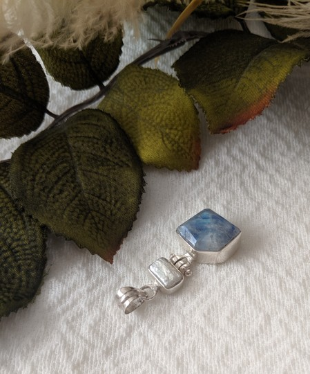 Artisan crafted Artisan Crafted Sterling Labradorite Baroque Pearl Pendant Image 5