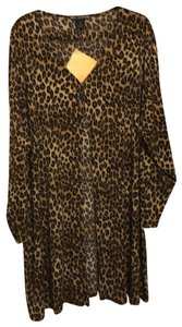 Nina Leonard Top leopard spots (Black,Brown and Tan)
