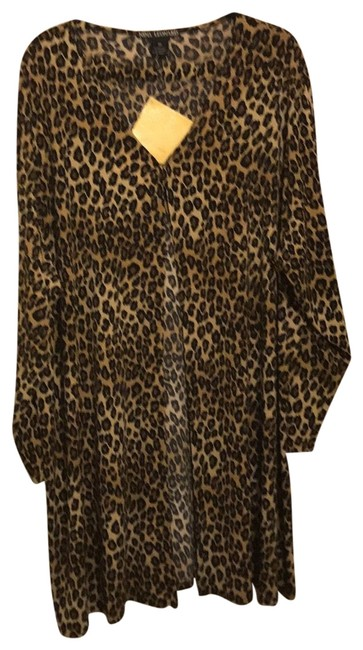 Nina Leonard Top leopard spots (Black,Brown and Tan) Image 0