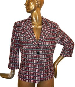 St. John Tweed Knit Jacket Multicolor Blazer