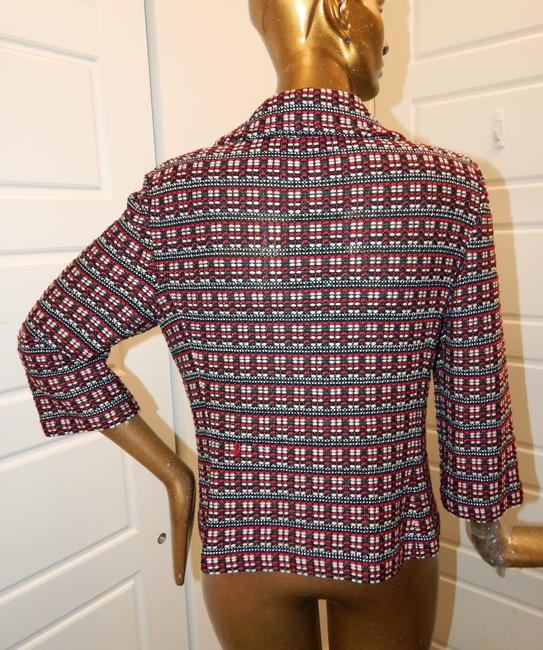 St. John Tweed Knit Jacket Multicolor Blazer Image 4