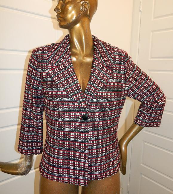 St. John Tweed Knit Jacket Multicolor Blazer Image 5