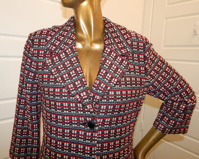 St. John Tweed Knit Jacket Multicolor Blazer Image 6