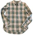 Madewell Button Down Shirt Green and Gray Image 0