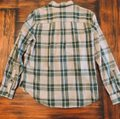 Madewell Button Down Shirt Green and Gray Image 1
