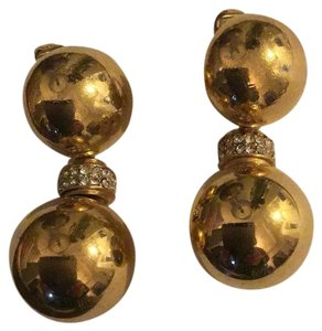 Dior clip costume earring with crystal