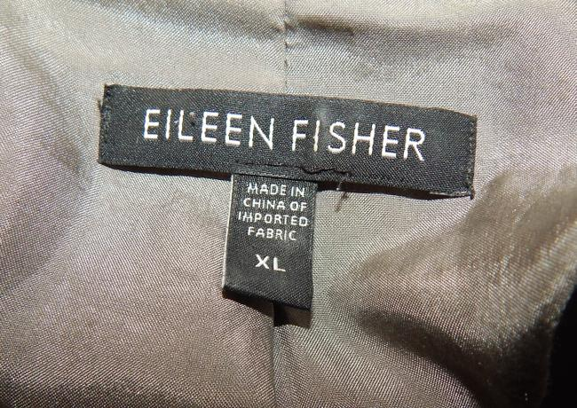 Eileen Fisher Blazer Crinckle Silk Blend Pewter Jacket Image 8