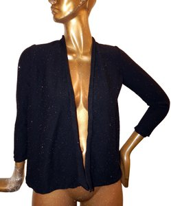 Eileen Fisher Sparkle Wool Black Jacket