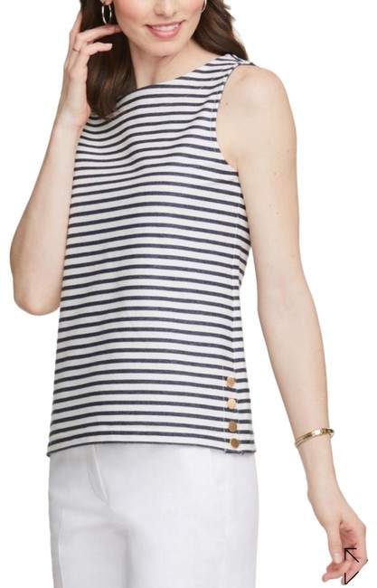 Ann Taylor Top Navy White Image 0