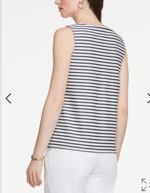 Ann Taylor Top Navy White Image 1