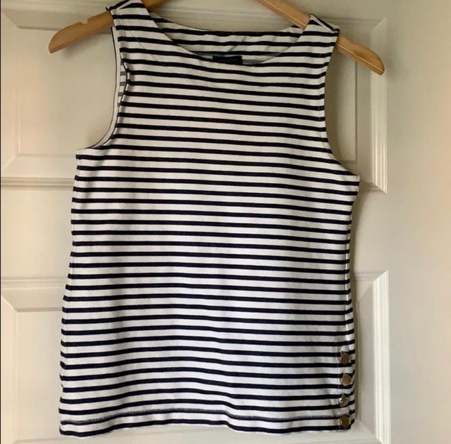 Ann Taylor Top Navy White Image 3