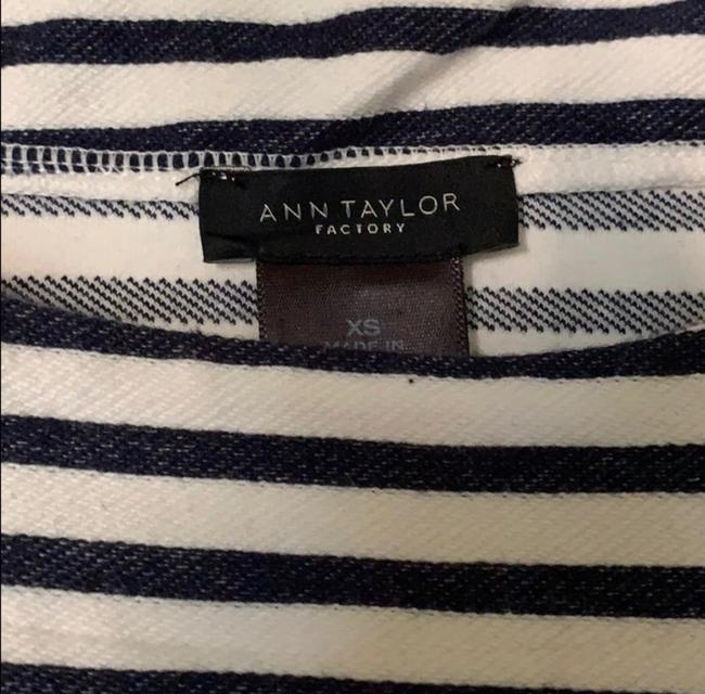 Ann Taylor Top Navy White Image 6