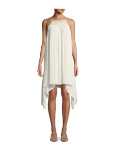 Halston short dress cream on Tradesy