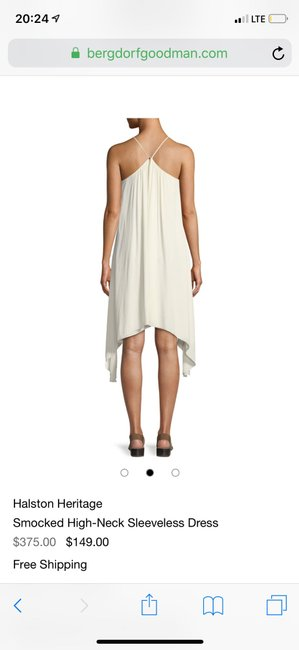 Halston short dress cream on Tradesy Image 1