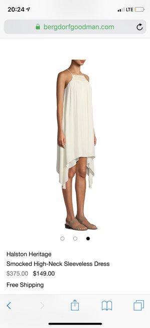 Halston short dress cream on Tradesy Image 2