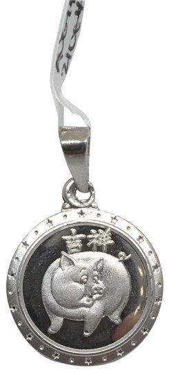 Preload https://img-static.tradesy.com/item/26026308/18k-white-gold-year-of-the-pig-pendant-charm-0-1-540-540.jpg