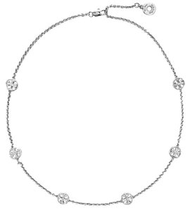 Tory Burch Delicate Logo Necklace Silver