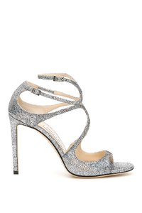 Jimmy Choo Lang Hgh Multi Silver Sandals