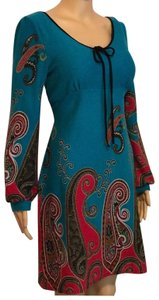 Aryeh short dress Blue and red on Tradesy