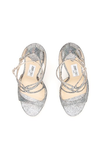Jimmy Choo Lang Hgh Multi Silver Sandals Image 1