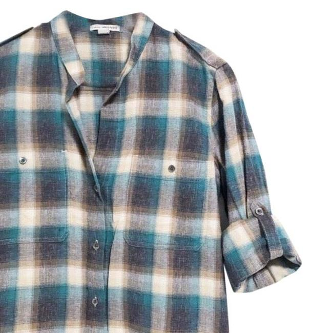 Preload https://img-static.tradesy.com/item/26026433/james-perse-blue-toast-adjustable-sleeve-flannel-button-down-top-size-2-xs-0-1-650-650.jpg
