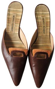 Manolo Blahnik Vintage Leather Brown Wedges