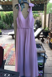 Alfred Angelo Blush Pink Polyester/Cotton Feminine Bridesmaid/Mob Dress Size 12 (L)